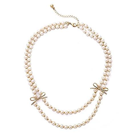 Demi Etageres - Collier de perles à petits étagères à