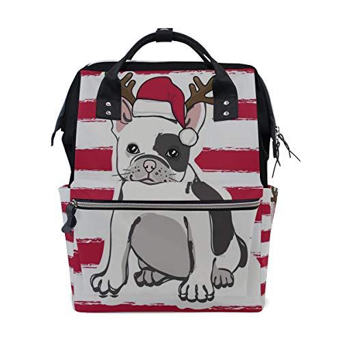 Starke Beliebte Französisch Bulldog Große Kapazität Windel Taschen Mummy Rucksack Multi Funktionen Wickeltasche Tote Handtasche Für Kinder Babypflege Reise Täglichen ()