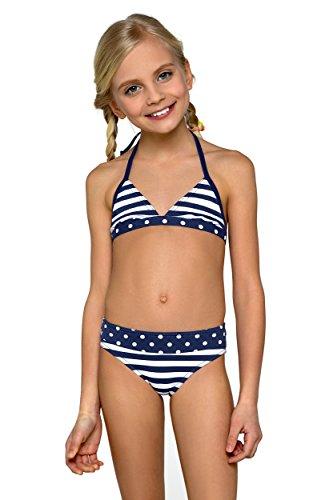 Kinder Kinder Mädchen Bikini Badebekleidung dunkelblau gebraucht kaufen  Wird an jeden Ort in Deutschland