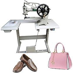 FayeLong Cordonnier de Machine de réparation de Chaussure électrique/Manuel en Cuir de Couture de Point de Machine de Couture de Chaussure de réparation de Toile