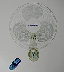Crompton Cressida 16 400mm Remote 55-Watt Wall Mounted Fan (Light Grey)