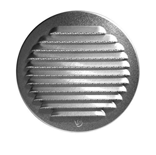 Klimapartner WSGR 150 - Rejilla de Ventilación Circular de Acero Inoxidable con...