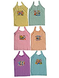 kids girls vest pack of 6(gf-06)