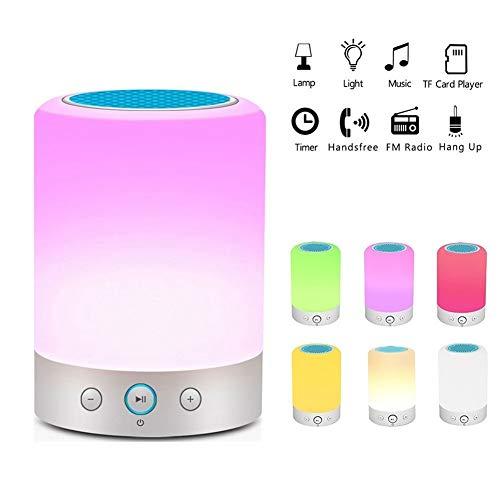 L7-box (LIUMSJ Bluetooth-Lautsprecher L7 Smart Light Tragbarer Bluetooth-Lautsprecher Drahtloser Stereolautsprecher Touch-Steuerung Farbwechsel LED Nachttischlampe FM-Radio Mikrofon)