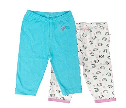 Sofie & Sam Bio-Baumwolle 2er Pack Combo 12-18 Monate Baby Schlafanzug Hosen Pajama (Nachtwäsche Böden)