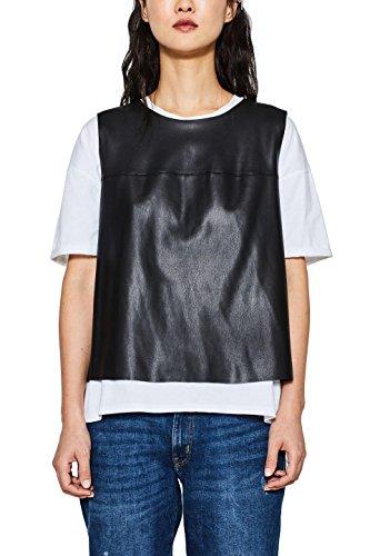 ESPRIT Damen Bluse 127EE1F023, Schwarz (Black 001), XX-Large Preisvergleich