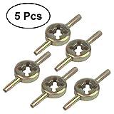 BESTOMZ Ventildreher Metall Ventil schrauber Reifenventil Reparatur Ventil Kern Werkzeug 5 Stück
