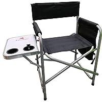 كرسي رحلات وتخييم قابل للطي مع طاولة جانبية