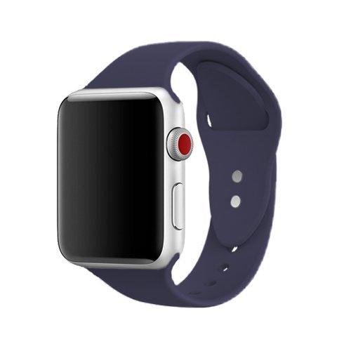 Für Apple Watch Armband 42mm, ToveLo weich Silikon Ersatz Sport iWatch Armbändern für Apple Watch Serie 1, Serie 2,Serie 3,Sport,Edition,Hermès, M/L Mitternachtsblau