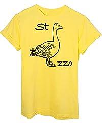 Idea Regalo - iMage T-Shirt Oca Rebus Maglietta Divertente - Funny - Uomo-M - Gialla