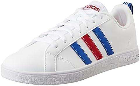 adidas VS Advantage, Chaussures Homme, Blanc (Ftwbla / Azul / Rojpot), 42 2/3 EU