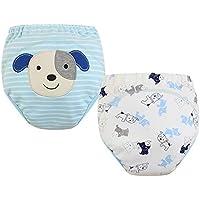 [Perro] bebé pantalones del entrenamiento del tocador del pañal de la ropa interior del pañal del paño 15.4-26.4Lbs