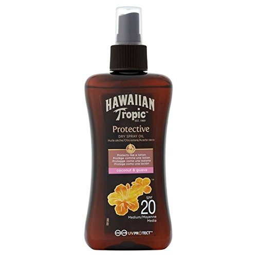 Hawaiian Tropic Protection Oil Dry spray SPF20 200 ml (Pack of 2)