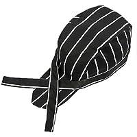 Kentop Gorro de Cocinero de Patrón de Rayas Forma de Sombrero de Pirata