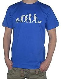 Evolution Basset Hound T-Shirt - Ape to Man / Dog Walking
