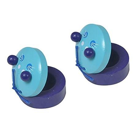 Gespout Farbe Tier Kleine Kastagnetten Baby Holz Musikinstrument Glockenspiele Hölzerne Kinder Pädagogisches Spielzeug