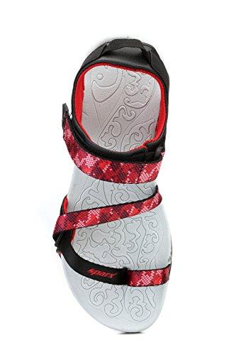 Sparx Women's Red & Black Fashion Sandals-6 (SS-463)