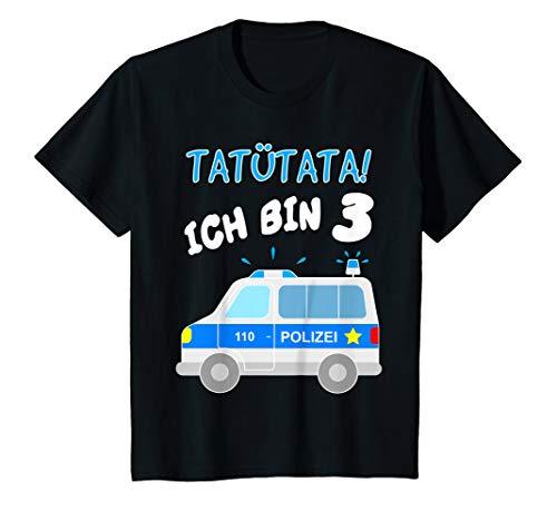 Kinder Polizeiauto TShirt 3. Geburtstag Junge Auto Polizist T Shirt