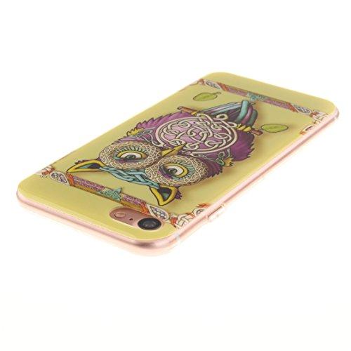 AIXIN Coque iPhone 7, Ubegood iPhone 7 bumper Case [Absorption de Choc] Coque arriere transparente Bumper en TPU Coque pour iPhone 7 Design 02