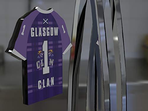 FanPlastic Elite Ice Hockey League Team Jersey Kühlschrank Magnet–Sie Den Namen, Anzahl und Team Farben, kostenlose Personalisierung, Plastik, Glasgow Clan Jersey Magnet