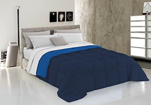 Italian Bed Linen T-el foncé royal-1pm Couette d'hiver Elegant, Microfibre, Bleu, à Une Place et demie, 260 x 220 x 9 cm
