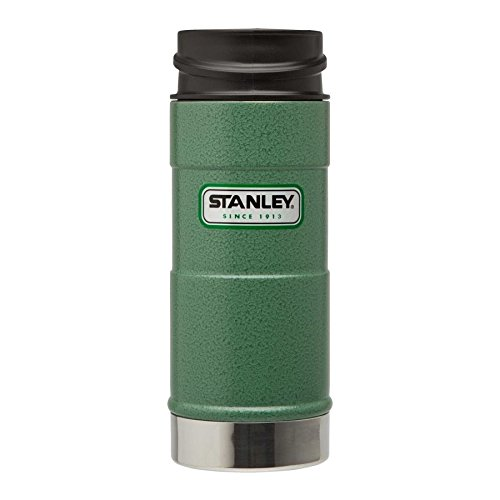 Stanley Classic Vakuum Trinkbecher - 0 -35 Liter - 18/8 Edelstahl - Hammerton grün - Einhändig bedienbar