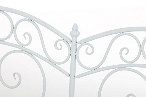 CLP Gartenbank SALIM im Landhausstil, aus lackiertem Eisen, 107 x 50 cm – aus bis zu 6 Farben wählen Weiß - 5