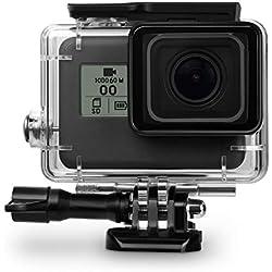 ARTLU Coque étanche de Protection pour (Seulement Black) pour GoPro Hero 7 Hero HD(2018) Hero 6 Hero 5 Quick Release et Mont Thumbscrew pour GoPro Hero 6 Hero 5 Action Camcorder