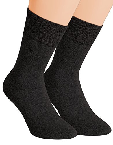 Vitasox 32033 Herren Wellness Socken Baumwolle Frotteesohle Baumwollsocken Arbeitssocken ohne Gummi 6er Pack Schwarz 43/46 -