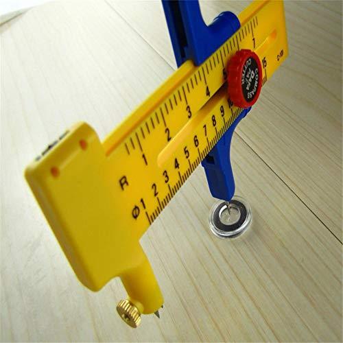 S-tubit taglierino a compasso, fresa rotante (diametro regolabile) cutter cerchi cerchio 1-15cm cosy