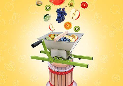 WIS Hengda® 18 Liter Maischepresse Weinpresse Obstpresse & 7 Liter Obstmühle Beerenmühle Traubenmühle