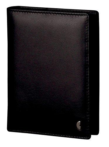Chronoplan 50727Organizer in pelle nappa di vitello, agenda mini ad anelli con calendario 2017, colore: nero