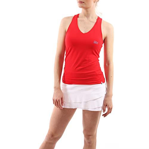 Sportkind Mädchen & Damen Tennis, Fitness, Running Tanktop mit Racerback, rot, Gr. XL