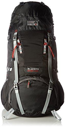 High Peak Rucksack Sherpa 65+10 schwarz, 32 x 40 x 85 cm, 75 Liter -