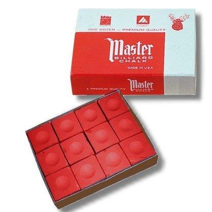 GamePoint Billardkreide Master, 12 Stück im Karton. Farbe rot. Zubehör_190003