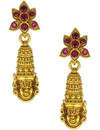 AccessHer pink purple handpainted enamel jaipuri jhumki for women