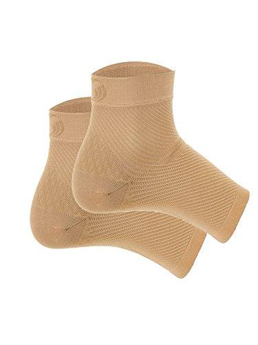 Orthosleeve® FS6 Fußbandage mit exklusiver 6Zone Compression Technology® / 6-Zonen-Kompressionstechnologie, Linderung bei Plantarfasziitis, Fersenschmerz & Schwellungen, ganztägiger Komfort für jeden Tag, 1Paar