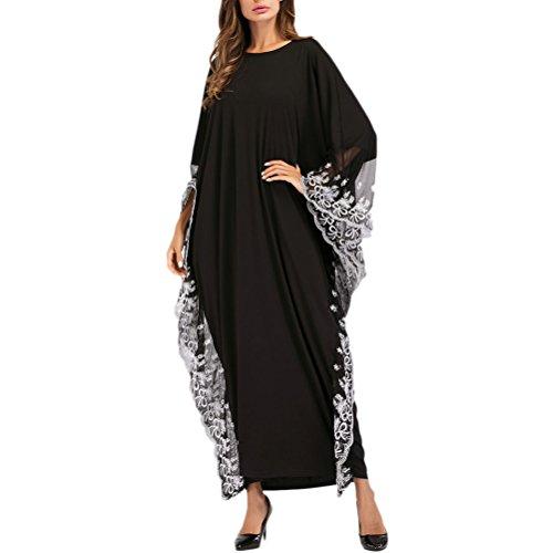 Zhhlaixing Multi Style Fledermaus Ärmel Kleider Maxi Kleid Lange Kaftan Kaftane für Frauen Muslim Dubai Saudi-Arabien Marokkanischen Malaysischen (Marokkanischen Kaftan-kleider Für Frauen)