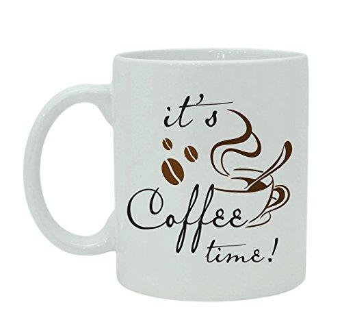 It's Coffee TimeTasse en céramique blanche avec boîte cadeau gratuite