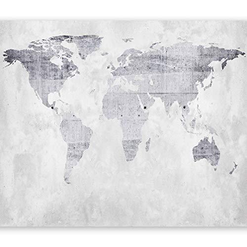 murando Papier peint intissé 200x140 cm Décoration Murale XXL Poster Tableaux Muraux Tapisserie Photo Trompe l'oeil carte du monde béton k-A-0015-a-b