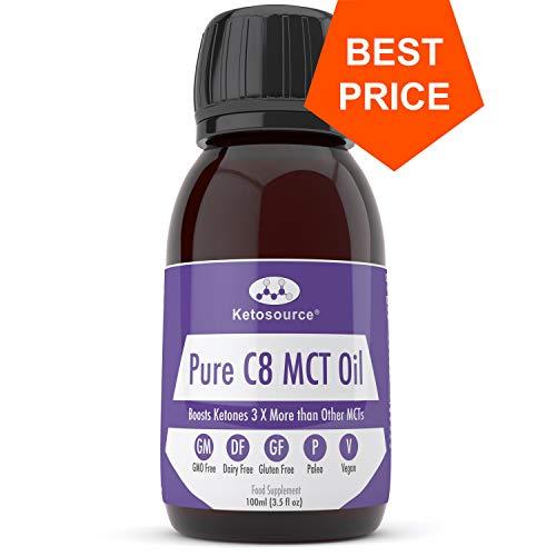 C8 MCT Aceite Puro | Produce 3 X Más Cetonas Que Otros MCT Aceites | Triglicéridos de Acido...