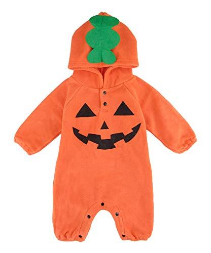 Mombebe Baby Jungen Halloween Kostüm Kürbis Brechen Mit Kapuze Outfit(6-12 Monate, Kürbis 2)