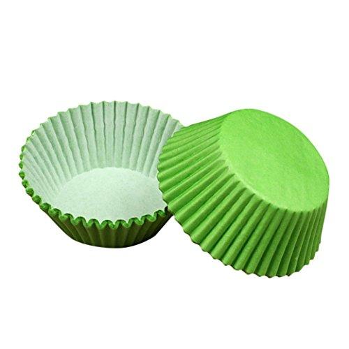Winkey Muffinförmchen aus Papier, 100 Stück, Dekorationswerkzeug zum Kuchen- und Muffinbacken, grün, Size:6.1CMX7.5CM
