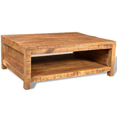 Anself Table Basse en Manguier Table Basse de Salon Carrée
