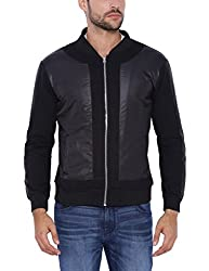 Campus Sutra Men Black Jacket(AW16L_JKLDARPT_M_PLN_BL_XL)