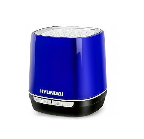 Music Box Lautsprecher, Bluetooth Lautsprecher für iphone, ipad, ipod, Handy, Hyundai i80 Mp3 Musik Box Player Blau (Blue)