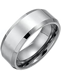 GirlZ! Silver Stainless Steel Cool Simple Ring for Men