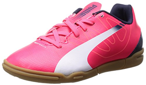 Puma evoSPEED 5.3 IT Jr Unisex-Kinder Hallenschuhe Rot (bright plasma-white-peacoat 05)