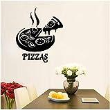 Adesivi murali Italia Europa Roma Pizza Ristorante italiano Pizza Slice Die Applique DIY 42x49cm