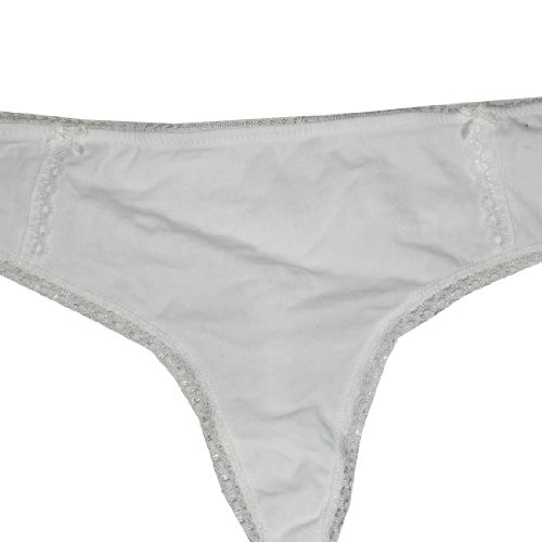 Femme Sexy Stretch Hipster Brief Thong Panties Blanc